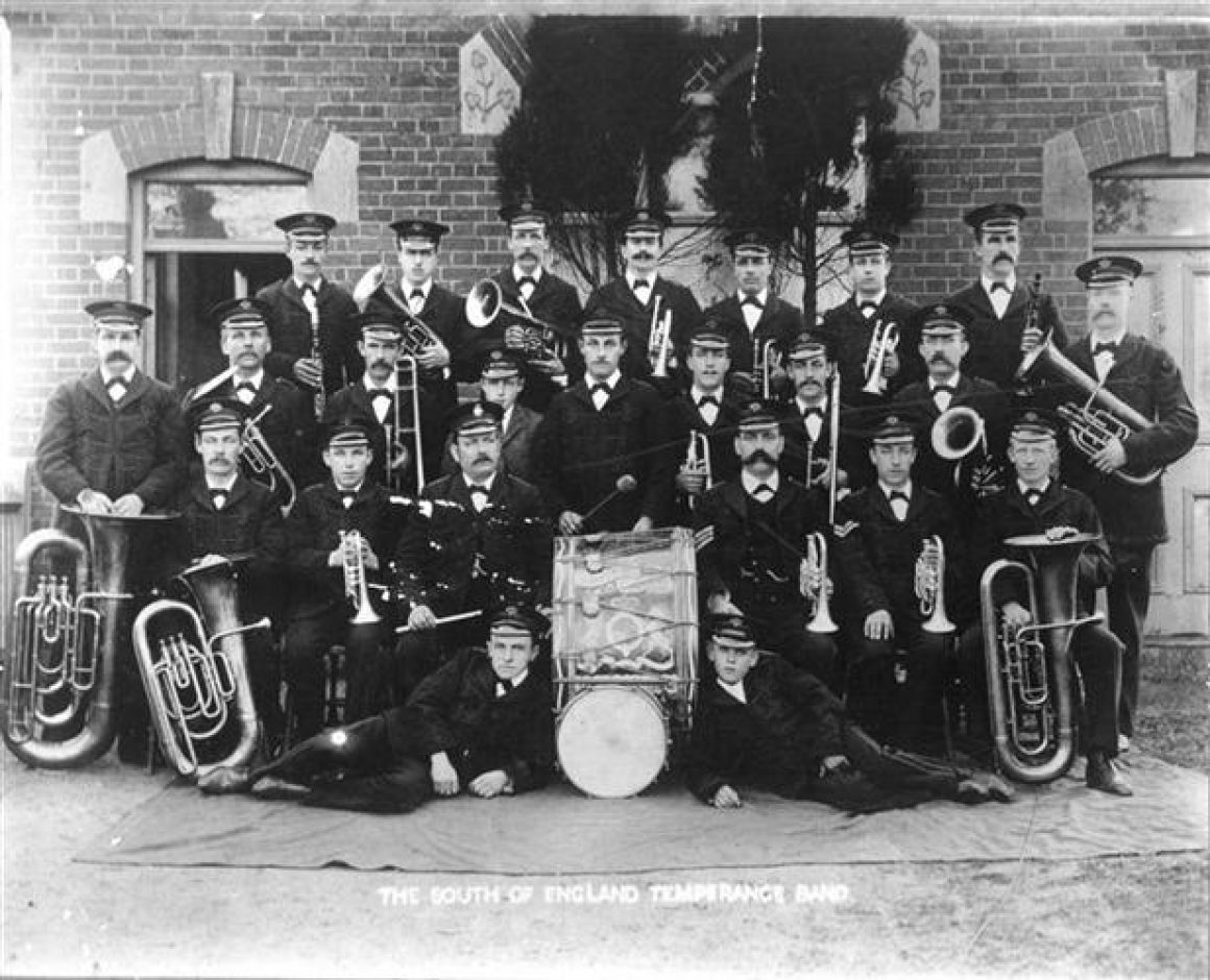 c. 1909 In front of the Band Hall